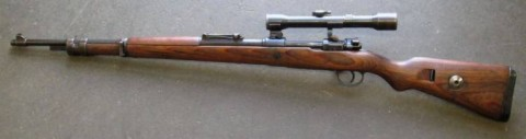 F - ARMI DISATTIVATE -  - MAUSER K.98k  SS  Sniper con Zf.39 (Kahles)	scarr.