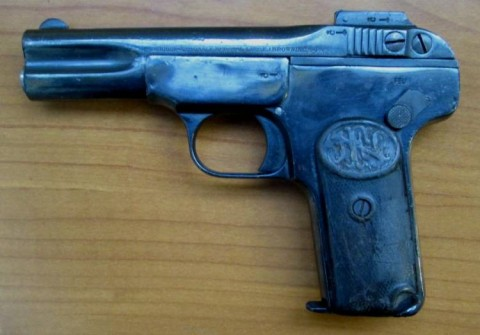 F - ARMI DISATTIVATE -  - PISTOLA BROWNING M.1900  Cal. 7,65  scarr.