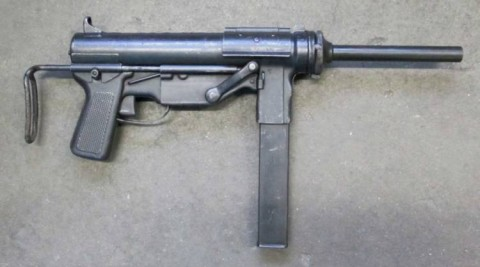 F - ARMI DISATTIVATE - PISTOLE MITRAGLIATRICI (PM) - PM  M.3 GREASE GUN  Cal. 9mm  Brunito  scarr.