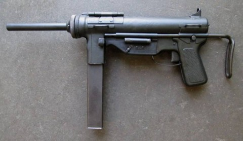 F - ARMI DISATTIVATE - PISTOLE MITRAGLIATRICI (PM) - M.3 GREASE GUN  Cal. 9mm  Brunito (1)