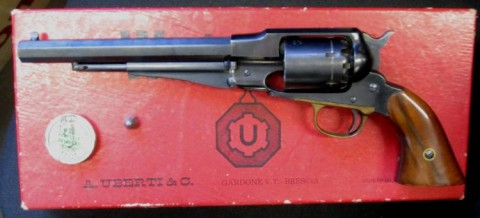 E - ARMI ATTIVE -  - REVOLVER AVANCARICA UBERTI  (REMINGTON M.1858 NEW ARMY)  CAL. 44