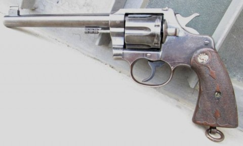 F - ARMI DISATTIVATE - PISTOLE (P) - REVOLVER COLT NEW MODEL .455 - 7 � � - Mod. 1914